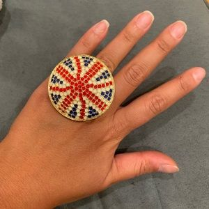 British Flag Statement Ring Union Jack